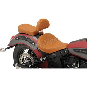 Drag Specialties Brown Diamond Stitch Sissy Bar Pad - 0822-0318