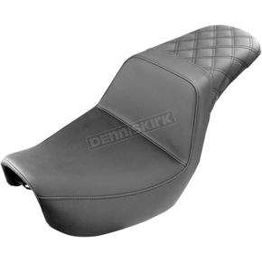 Saddlemen Black Lattice-Stitch Step-Up Seat - 804-04-173