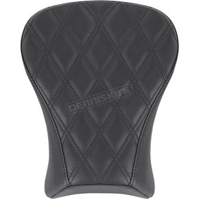 Black Renegade Lattice Stitched Passenger Pillion Pad - 818-29-012LS