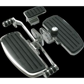 Chrome Driver Floorboards w/Heel Toe Shifter - GL18020