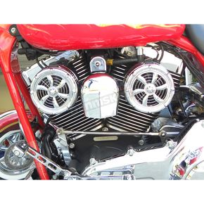 Polished Stainless Original Bullets V-Twin Cooling System - BLT