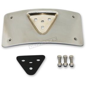 Chrome Radius License Plate Mount - CD-PFM-C