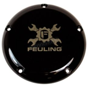 Feuling Motor Company Black Gear Cross Wrench Primary Derby Cover - 5-Hole - 9152