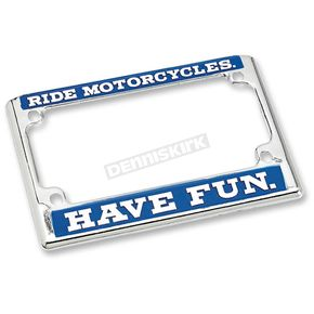 Ride License Plate Frame - LP-ZIN-DC-HF