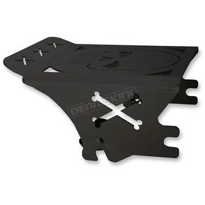 Pro Pad Flat Black Skull Quick Detachable Rack  - RX-SK9708-B