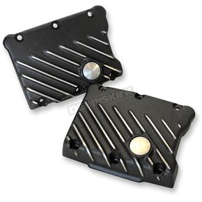 Speed Merchant Black Cut Ribsters Rocker Box Covers - RCTC/R/BC