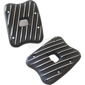Speed Merchant Black Cut Ribsters Rocker Box Covers - RCXL/R/BC