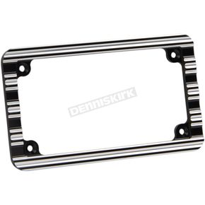 Arlen Ness Black 10-Gauge License Plate Frame - 12-136