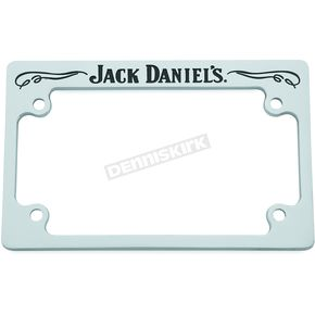 Jack Daniels Chrome/Black Old No.7 Script License Plate Frame - 106-249