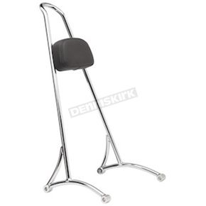 Burly Brand Chrome Tall Sissy Bar - B13-1503C