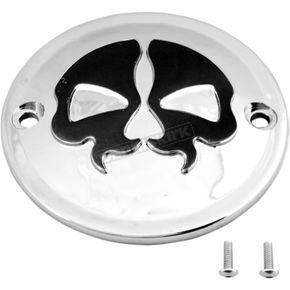 Chrome w/Black Skull Split Skull Points Cover - 0940-1614