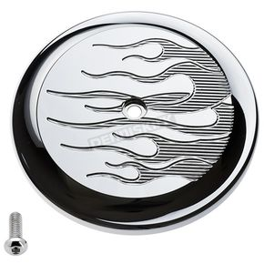Chrome Flame VT Air Cleaner Cover - 02-221-3
