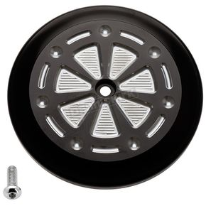 Black/Silver Techno VT Air Cleaner Cover - 02-223-2
