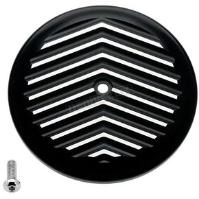 Joker Machine Black/Silver V-Fin VT Air Cleaner Cover - 02-224-2