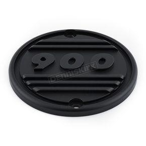 British Customs Black/Polished Partial Finned Clutch Cover - BC805-002-TB