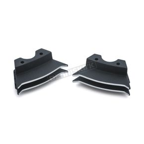 Wrinkle Black Finned Spark Plug Covers - 7186