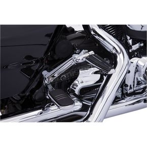 Ciro Black Floorboard Hi-Way Peg Mount W// Adjustable Arm For Harley Flh//T 09-Up