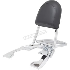 Chrome Sissy Bar Backrest & Luggage Rack - HW157334