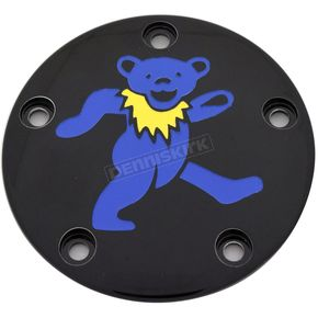 Black Grateful Dead Dancing Bear #1 Twin Cam Timing Cover in Full Color - GD041-04BG FC