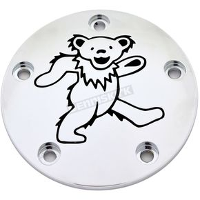 Chrome/Black Grateful Dead Dancing Bear #1 Timing Cover - GD041-04BC