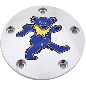 Chrome Grateful Dead Dancing Bear #1 Twin Cam Timing Cover in Full Color - GD041-04FC