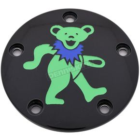 Black Grateful Dead Dancing Bear #2 Twin Cam Timing Cover in Full Color - GD042-04BG FC