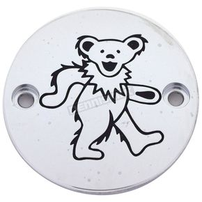 Chrome/Black Grateful Dead Dancing Bear #2 Timing Cover - GD042-63BC
