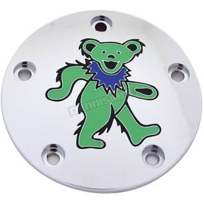 Chrome Grateful Dead Dancing Bear #2 Twin Cam Timing Cover in Full Color - GD042-04FC
