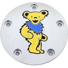 Chrome Grateful Dead Dancing Bear #3 Twin Cam Timing Cover in Full Color - GD043-04FC