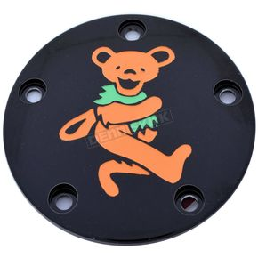 Black Grateful Dead Dancing Bear #4 Twin Cam Timing Cover in Full Color - GD044-04BG FC