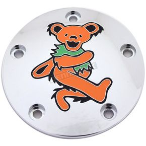 Chrome Dancing Grateful Dead Bear #4 Twin Cam Timing Cover in Full Color - GD044-04FC