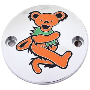 Chrome Grateful Dead Dancing Bear #4 Timing Cover in Full Color - GD044-63FC