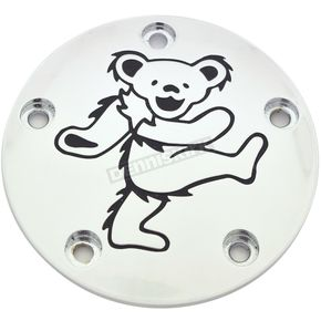 Chrome/Black Grateful Dead Dancing Bear #5 Timing Cover - GD045-04BC