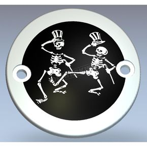 Chrome/Black Grateful Dead Dancing Skeletons Timing Cover - GD03-63BC