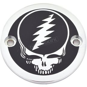 Chrome/Black Grateful Dead Steal Your Face Timing Cover - GD01-63BC