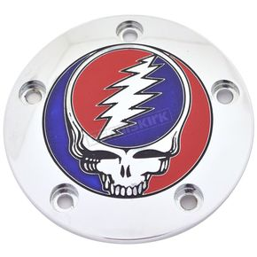 Chrome Grateful Dead Steal Your Face Twin Cam Timing Cover in Full Color - GD01-04FC