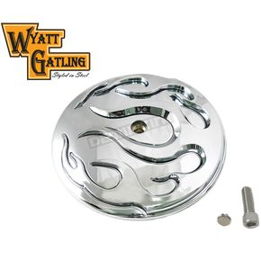 Chrome Flame Air Cleaner Cover Insert - 34-1438