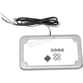 Cycle Visions Chrome License Plate Frame with LEDs - CV-4611