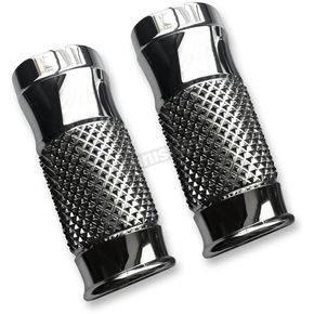 Thunder Cycle Designs Chrome Cross Cut +2 Fork Slider Covers - TC-964