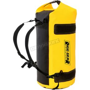 Black/Yellow 30 Liter Adventure Motorcycle Dry Roll Bag - SE-1030-YEL
