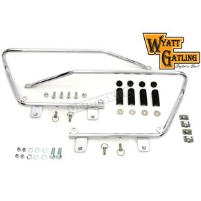 Wyatt Gatling Chrome Saddlebag Brackets and Stud Kit - 49-2678