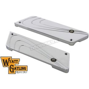 Wyatt Gatling Chrome Flair Style Saddlebag Face Plates - 42-1098