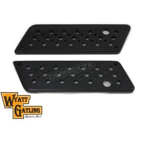 Wyatt Gatling Black Swiss Cheese Saddlebag Face Plates - 42-1127