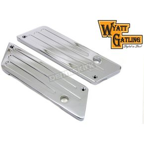 Wyatt Gatling Chrome Deep Cut Saddlebag Face Plates - 42-1129