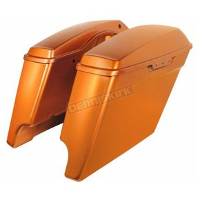 HogWorkz Amber Whiskey 4 in. Stretched Saddlebags - HW151009