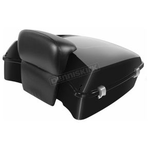 Vivid Black Rushmore Style Chopped Tour Pack w/Slim Backrest - HW229908