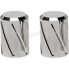 Long Spiral Style Chrome Docking Station Caps - DSC-SPRL-LC