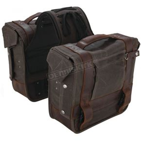 Dark Oak Throwover Saddlebags - B15-1002D