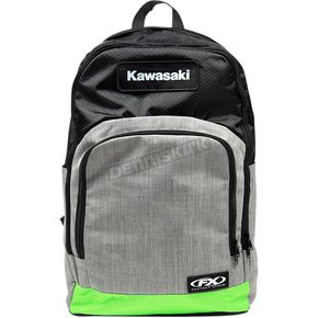 Black/Gray/Green Kawasaki Standard Backpack - 23-89110