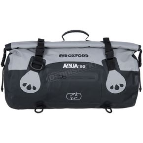 Gray/Black Aqua-T 50 Liter Weatherproof Roll Bag - OL482